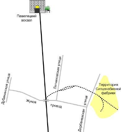 Схема подъездного пути в