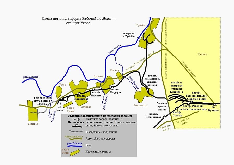 Схема ветки платформа Рабочий